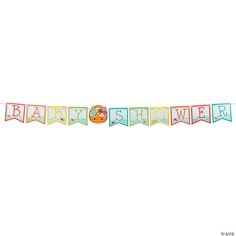 Noah's Ark Baby Shower Banner