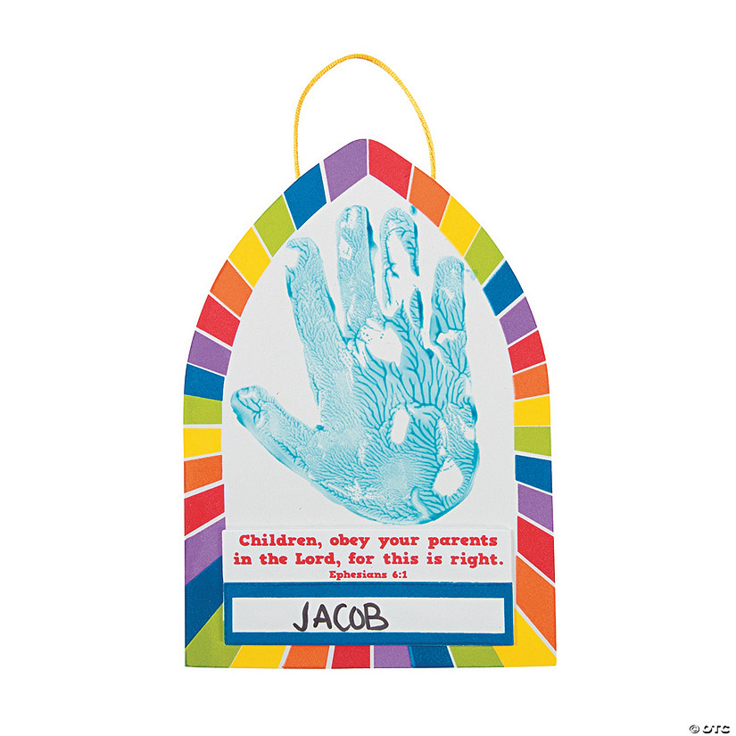 Obedient Hands Handprint Sign Craft Kit