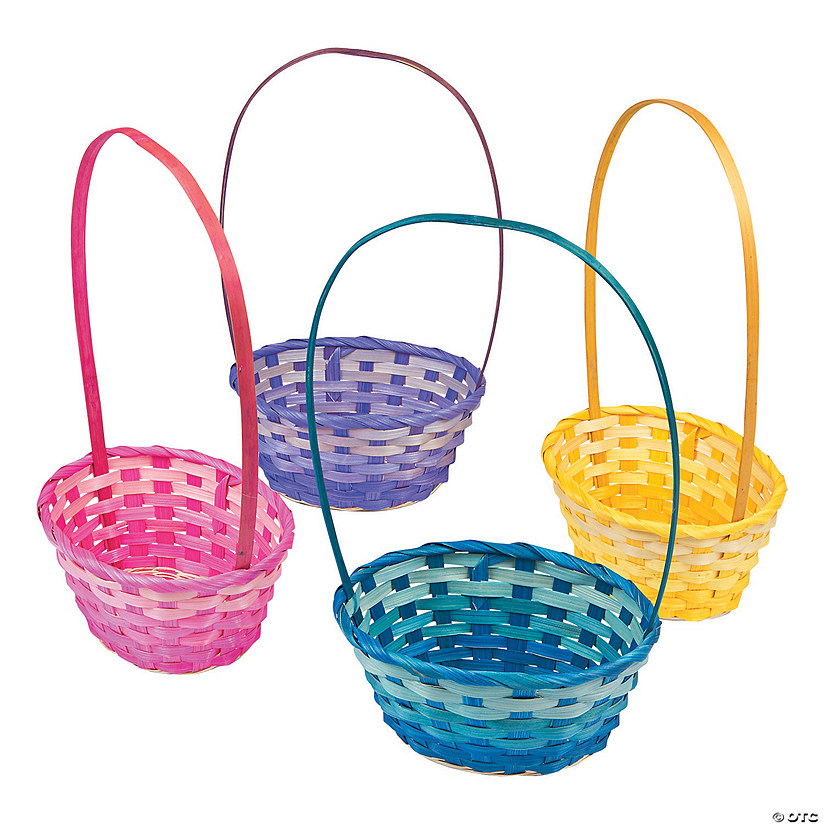 Ombre Bamboo Baskets
