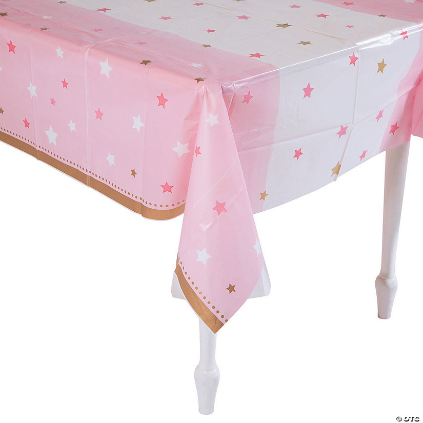 One Little Star Girl Plastic Tablecloth