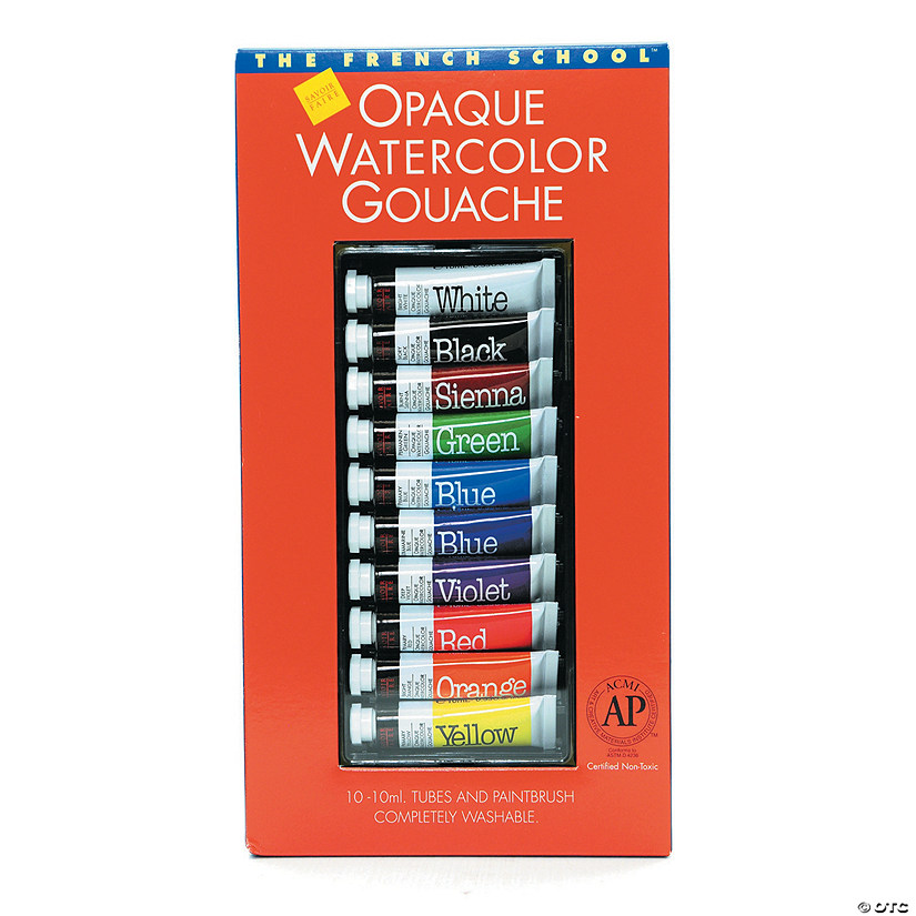 Opaque Watercolor Gouache Paint Tube Set of 10