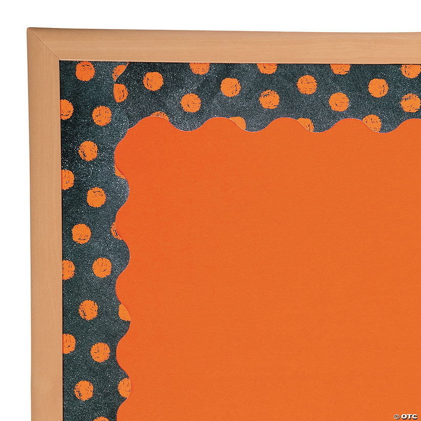 Orange Dots on Chalkboard Bulletin Board Border