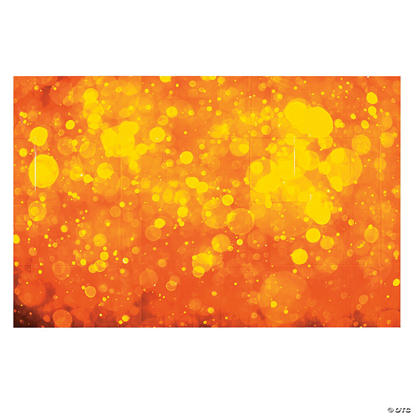 Orange Orb Lights Backdrop Halloween Décor