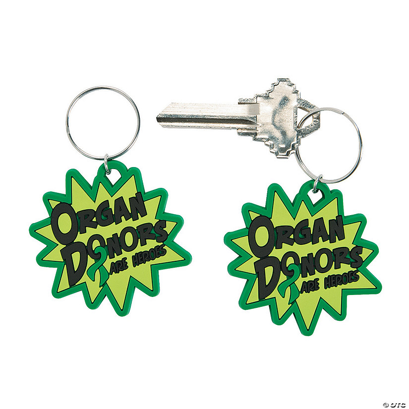 Organ Donor Awareness Keychains