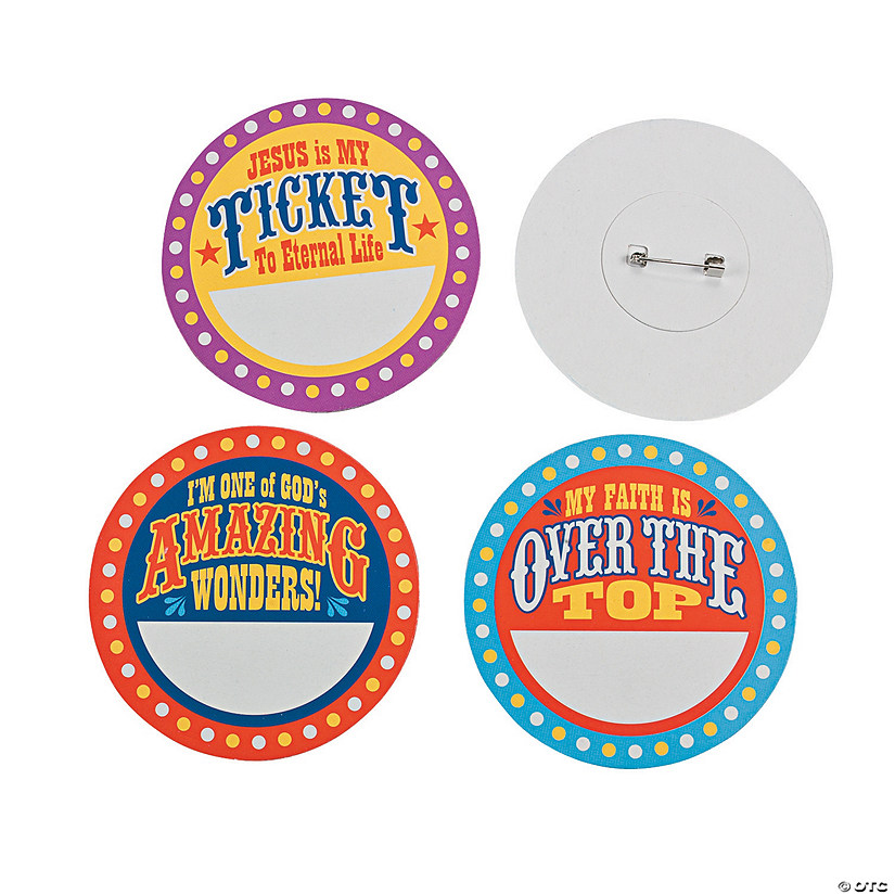 """Over the Top"" Name Buttons"