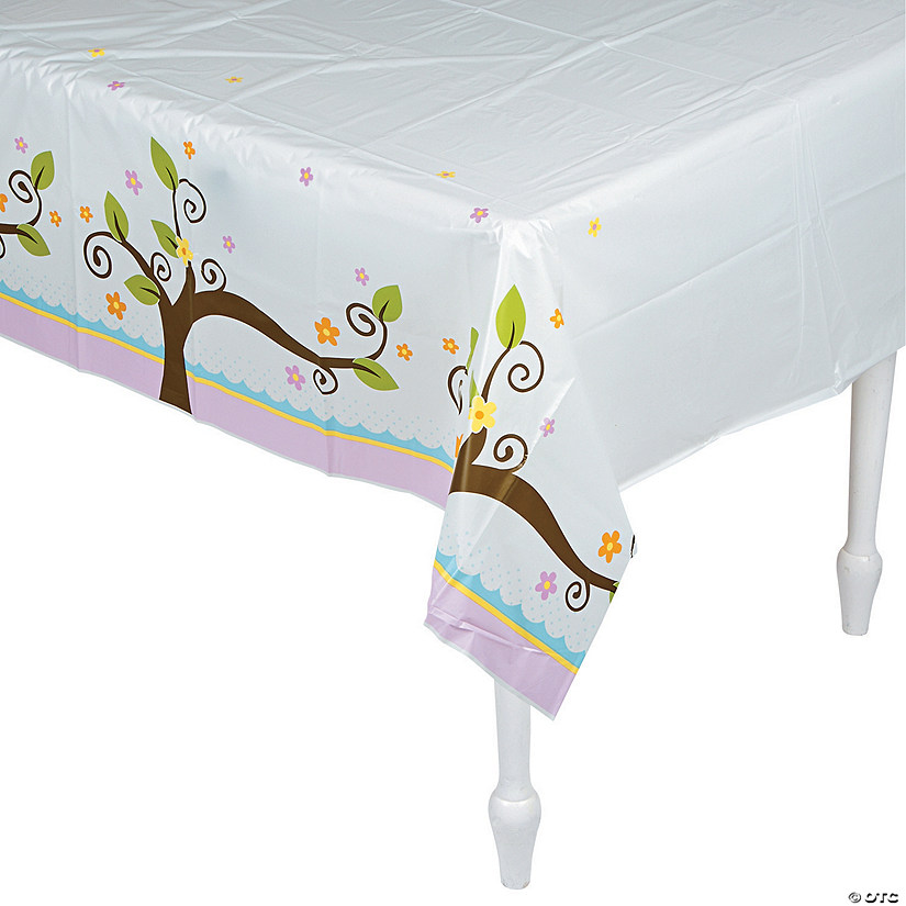 Owl Baby Shower Plastic Tablecloth