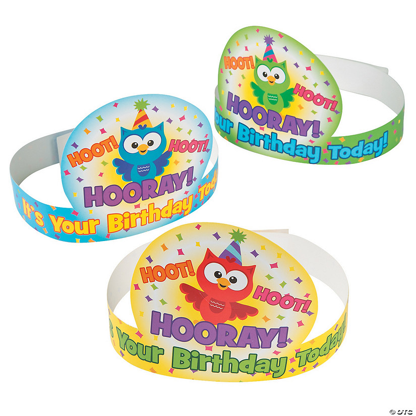 Owl Birthday Crowns