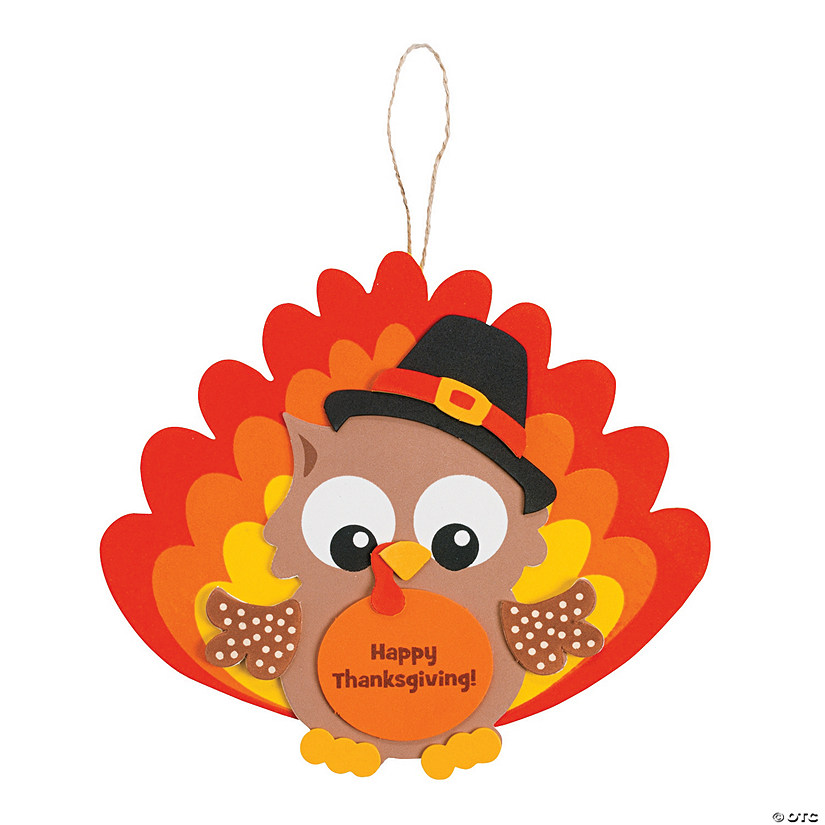 Owl Turkey Ornament Craft Kit