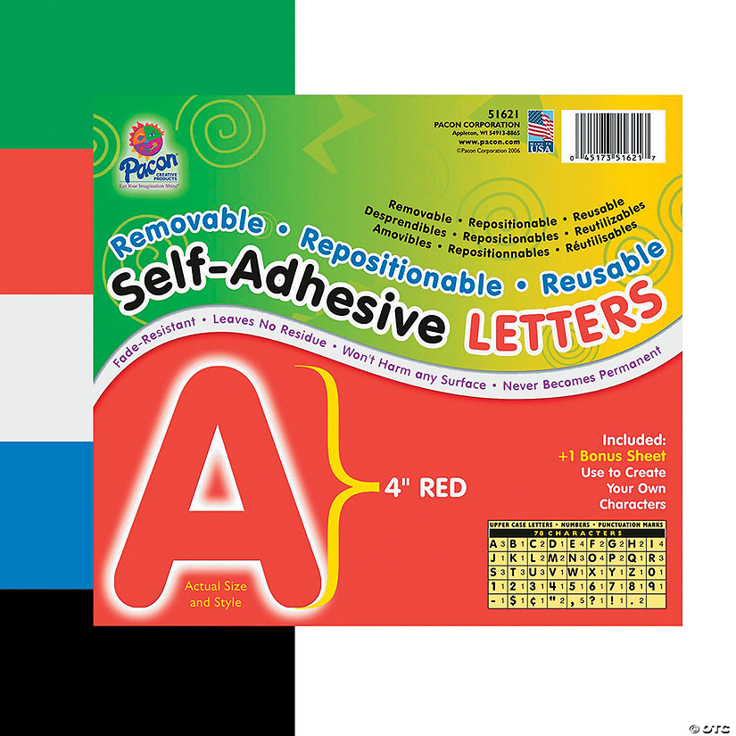 Pacon® Self-Adhesive Letters