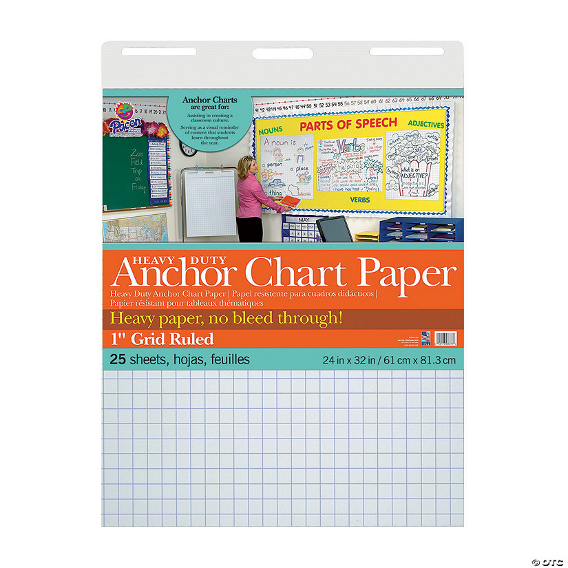 Pacon<sup>®</sup> Heavy-Duty Anchor Grid Ruled Chart Paper
