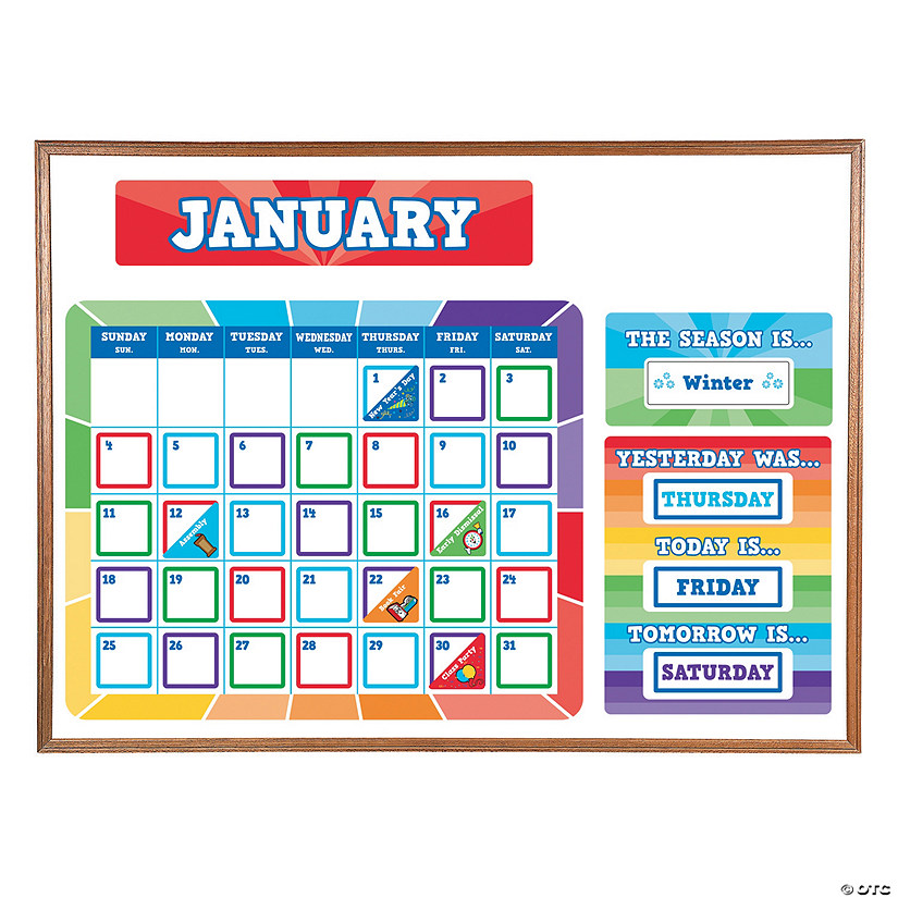 Paint Chip Bulletin Board Calendar