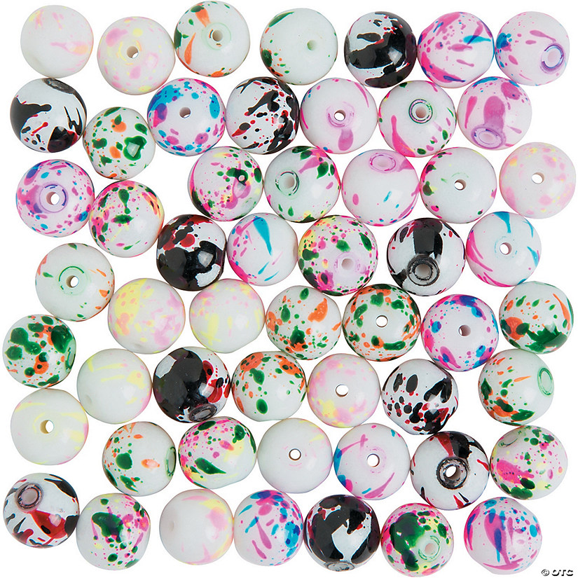 Paint Spatter Beads - 10mm