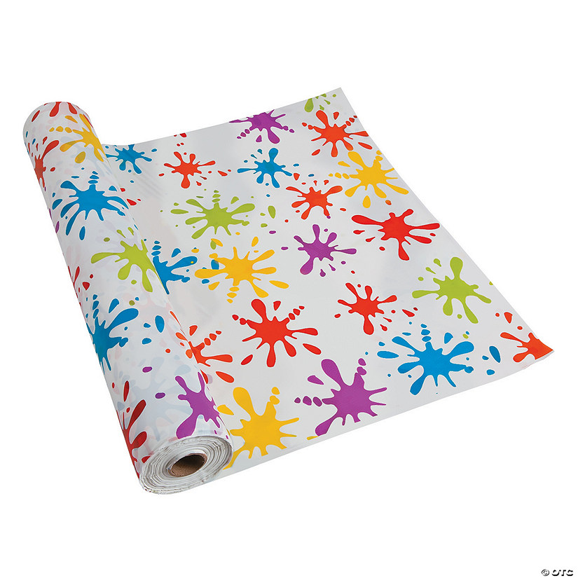 Paint Splatter Plastic Tablecloth Roll