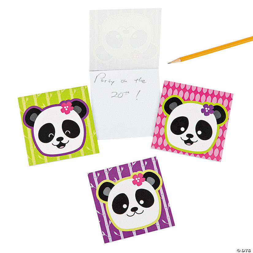 Panda Party Notepads