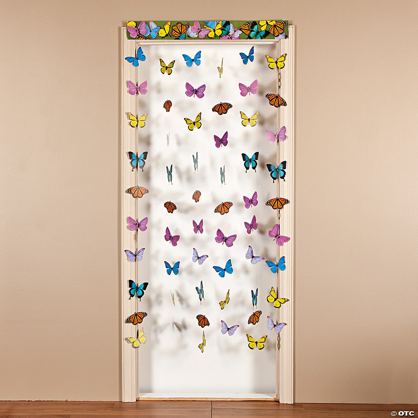 Paper Butterfly Hanging Door Curtain