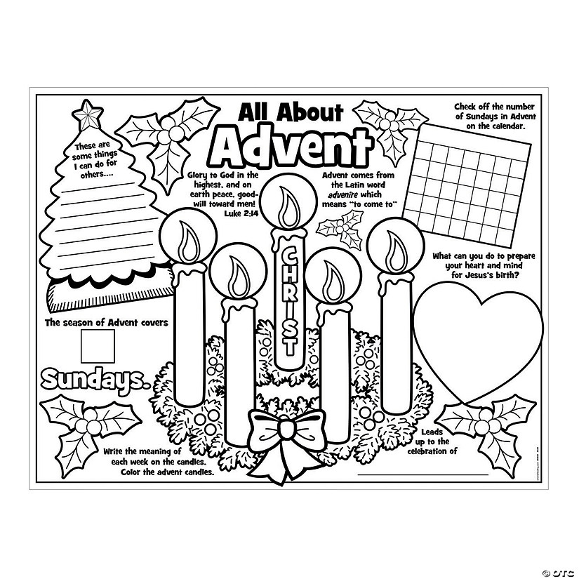 "Paper Color Your Own ""All About Advent"" Posters"