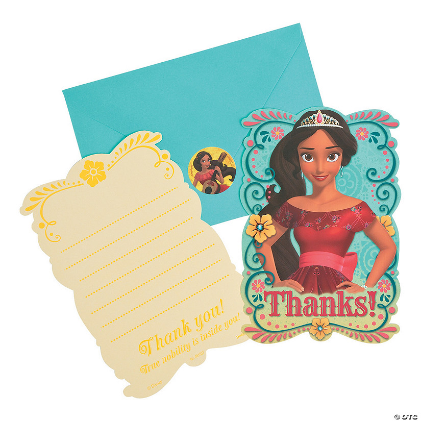 Paper Disney's Elena Thank You Cards