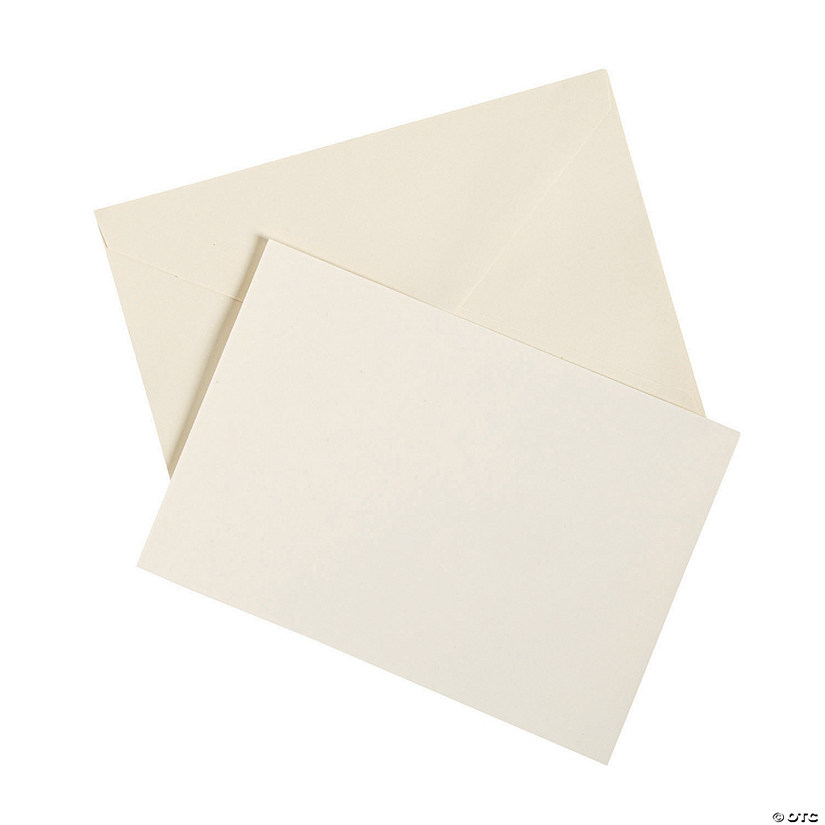 Paper Ivory RSVP Cards With Envelopes