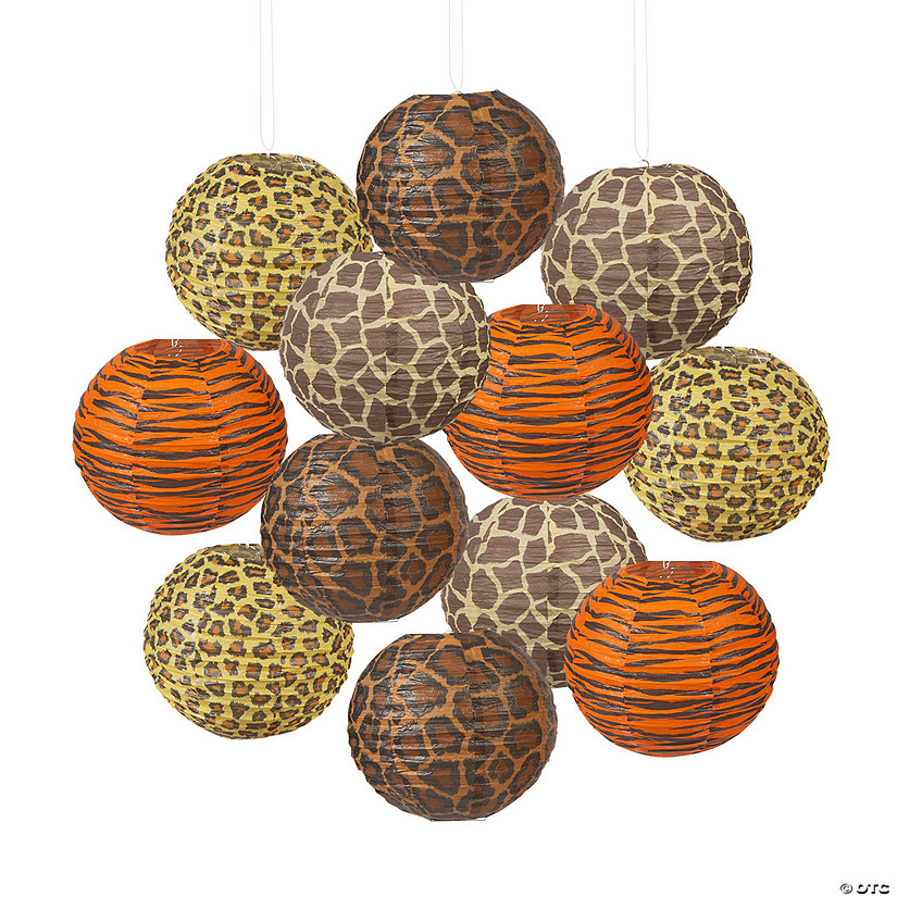 Paradise Safari Hanging Paper Lanterns