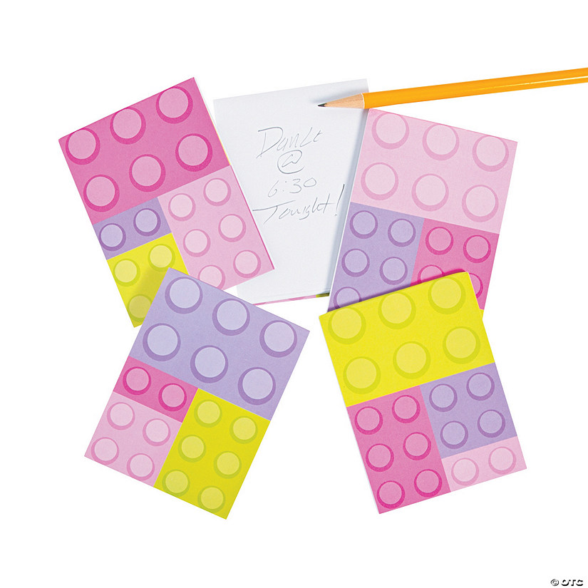 Pastel Color Brick Party Notepads