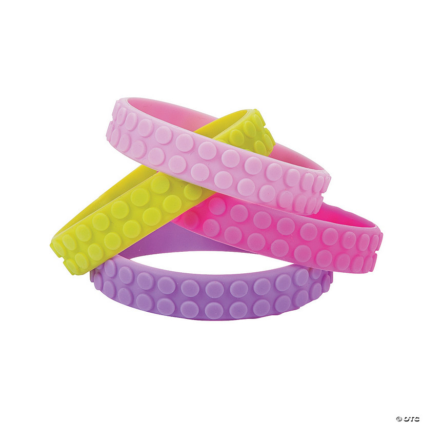 Pastel Color Brick Rubber Bracelets