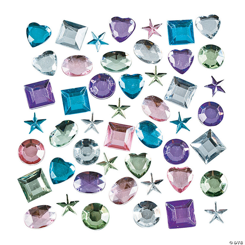 Pastel Self-Adhesive Jewel Assortment