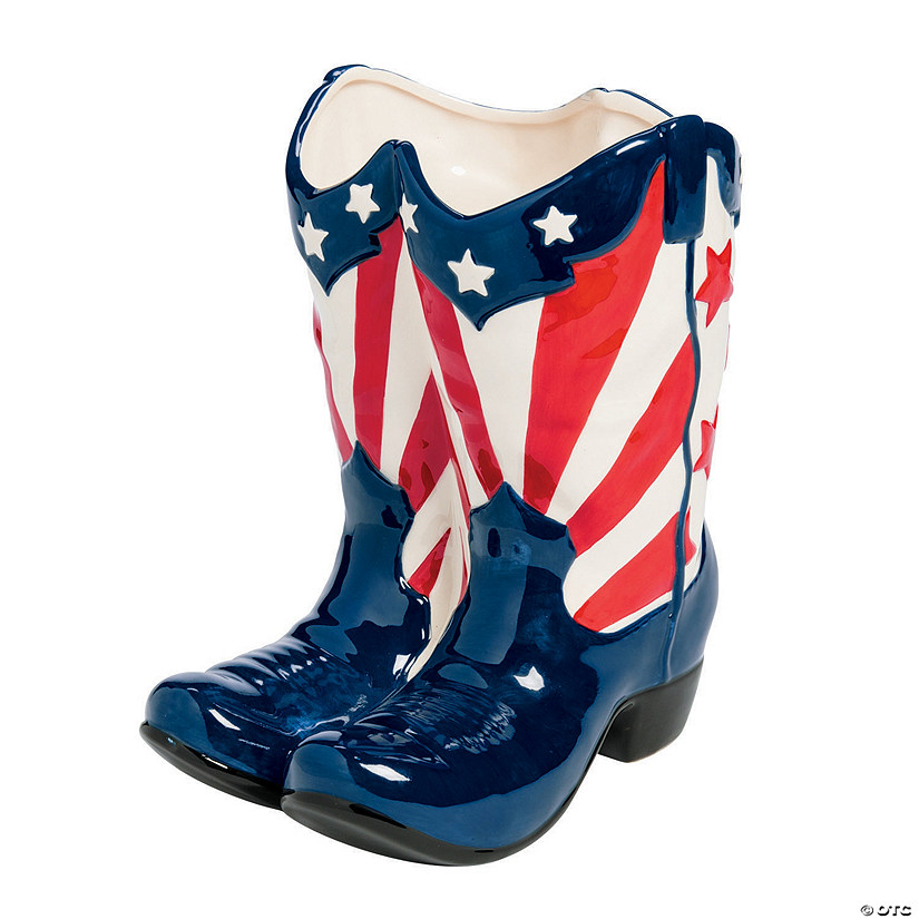 Patriotic Boot Planter