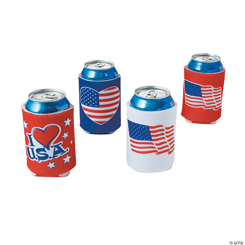 Patriotic Can Coolers