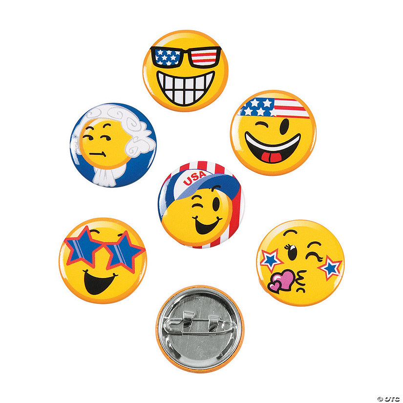 Patriotic Emoji Mini Buttons