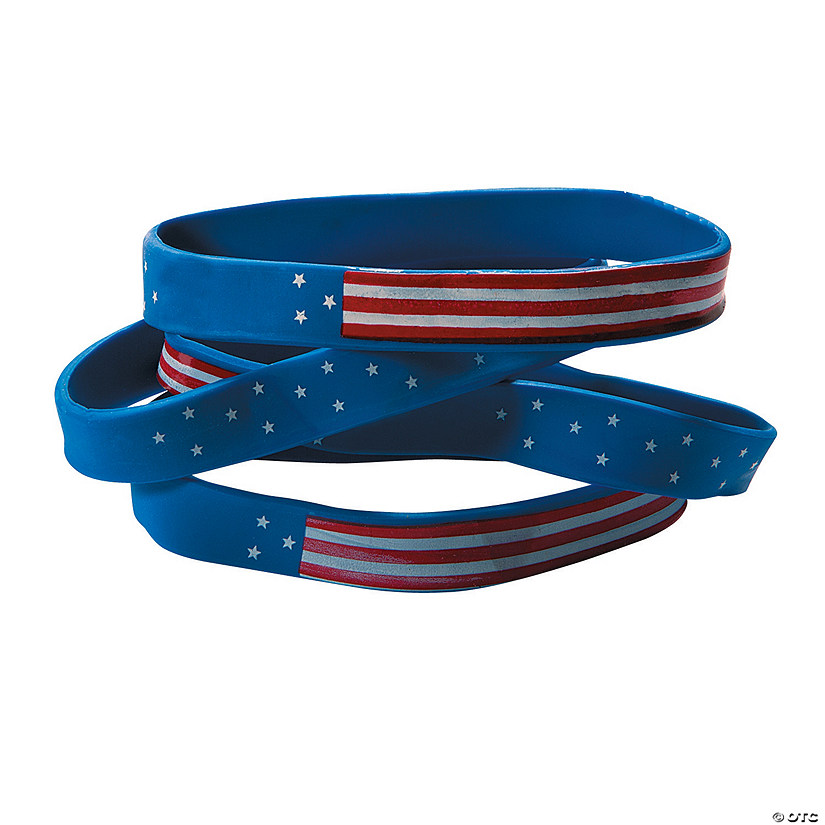 Patriotic Flag Rubber Bracelets