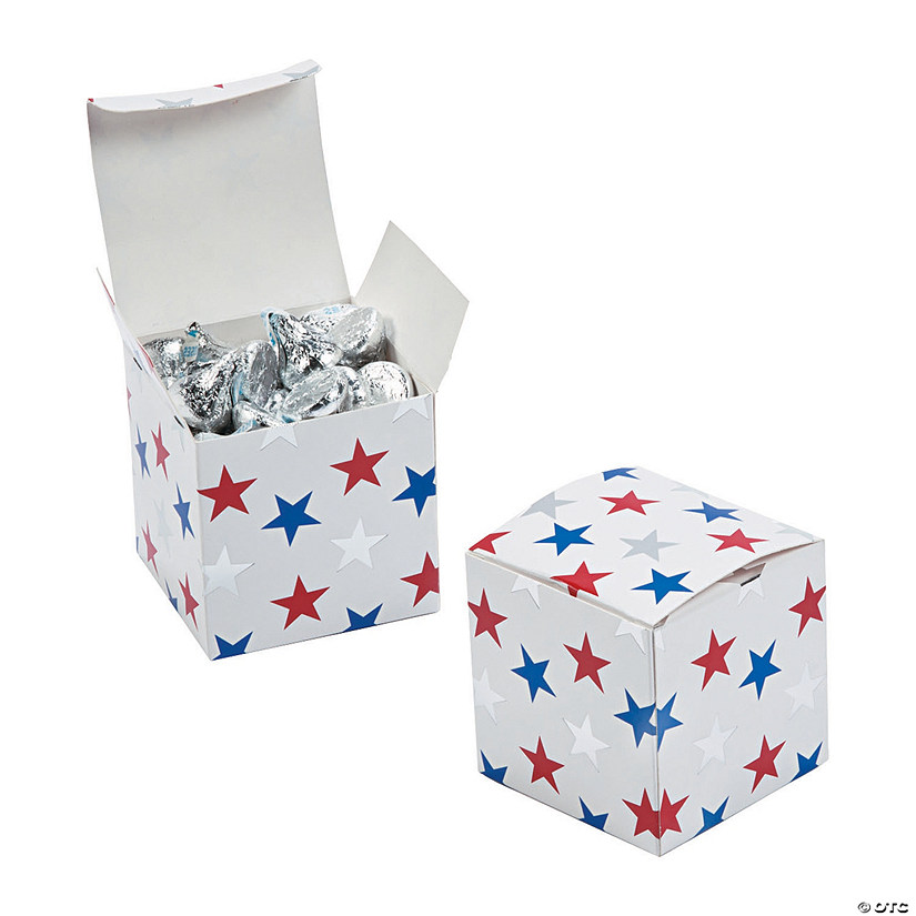 Patriotic Foil Star Favor Boxes