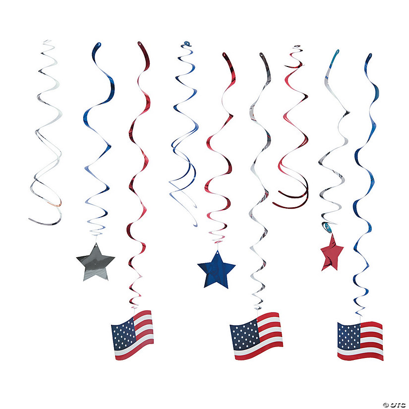 Patriotic Hanging Swirls Mega Pack