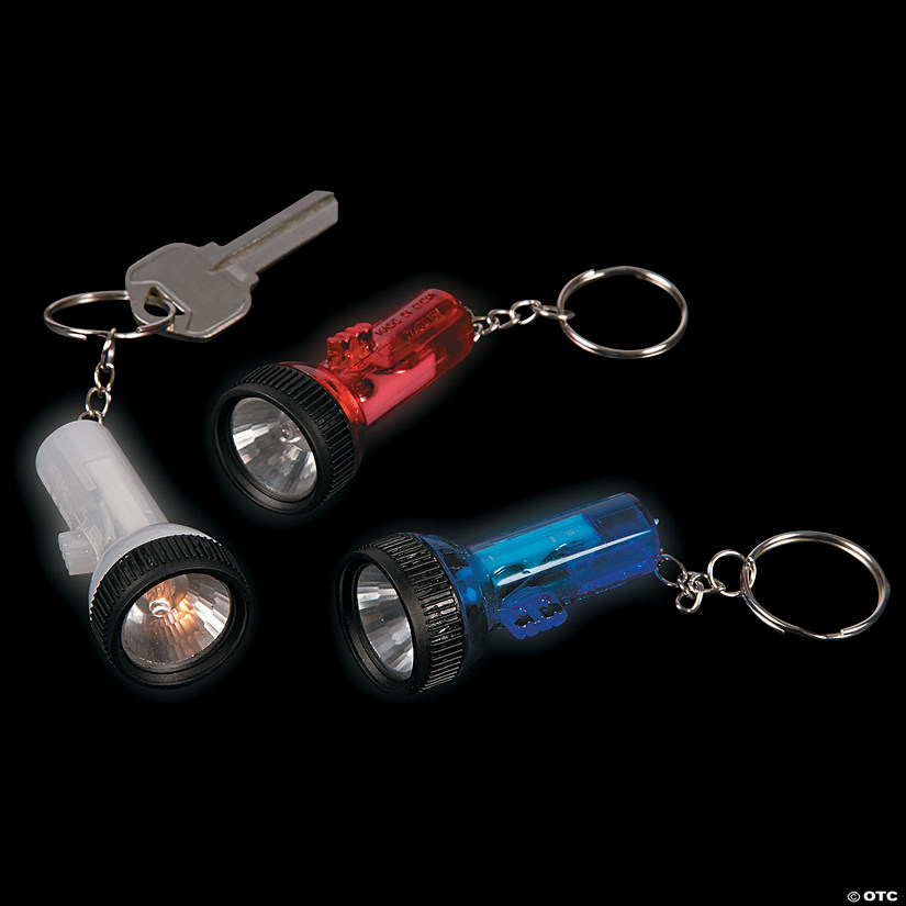 Patriotic Large-Beam Flashlight Keychains