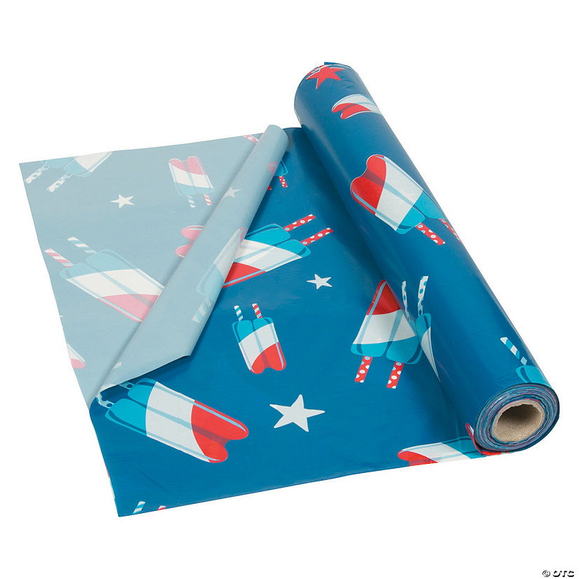 Patriotic Pop Plastic Tablecloth Roll