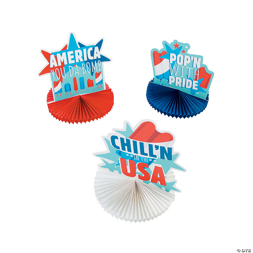 Patriotic Pop Tissue Centerpieces