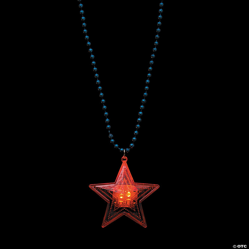 Patriotic Star Light-Up Necklaces