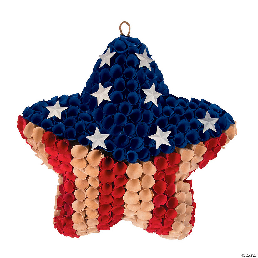 Patriotic Star Pod Wreath