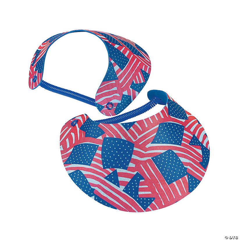 Patriotic Visors with Vinyl Coil Band
