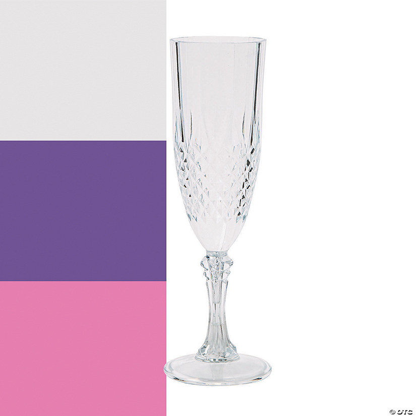 Patterned Champagne Flutes