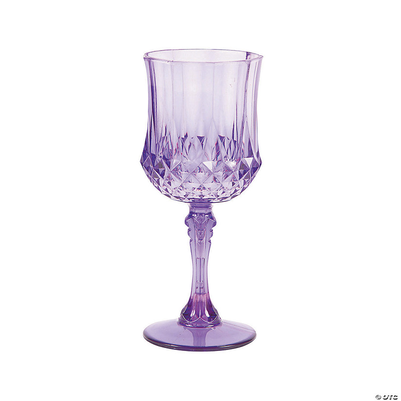 Patterned Plastic Wine Glasses