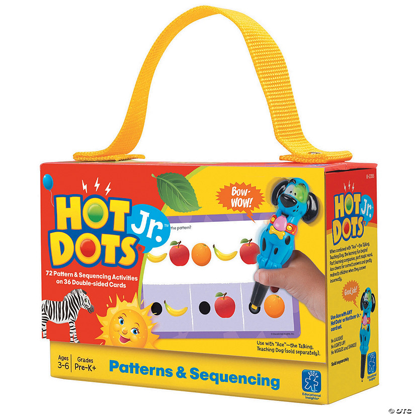 Patterns & Sequencing Hot Dots® Jr. Card Set, 72 per pack