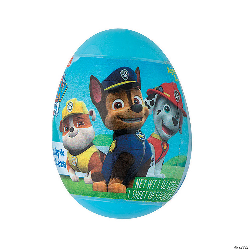Paw Patrol<sup>™</sup> Sticker & Candy-Filled Plastic Easter Eggs - 12 Pc.