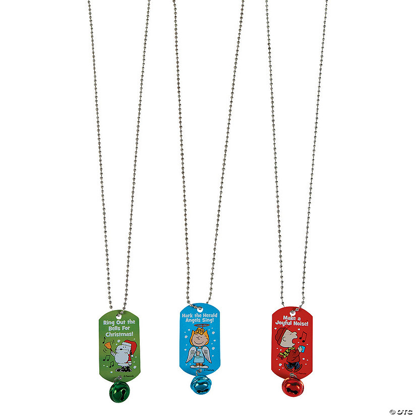 Peanuts® Christmas Dog Tagl Necklaces with Bell
