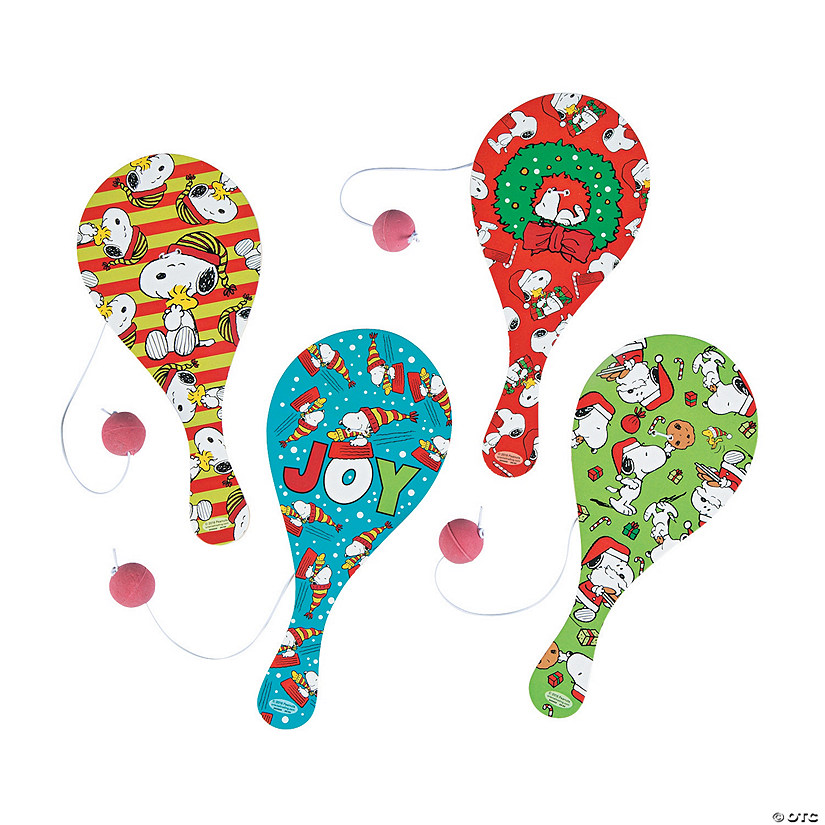 Peanuts® Christmas Paddleball Games