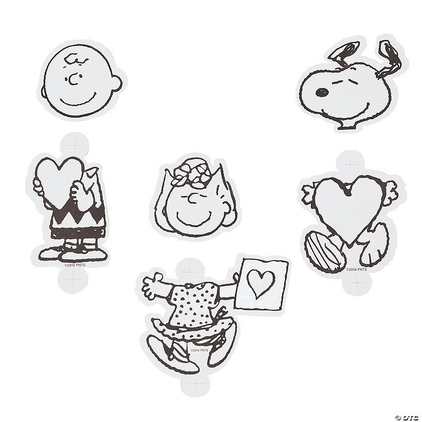 Peanuts® Color Your Own Valentine Lollipop Covers