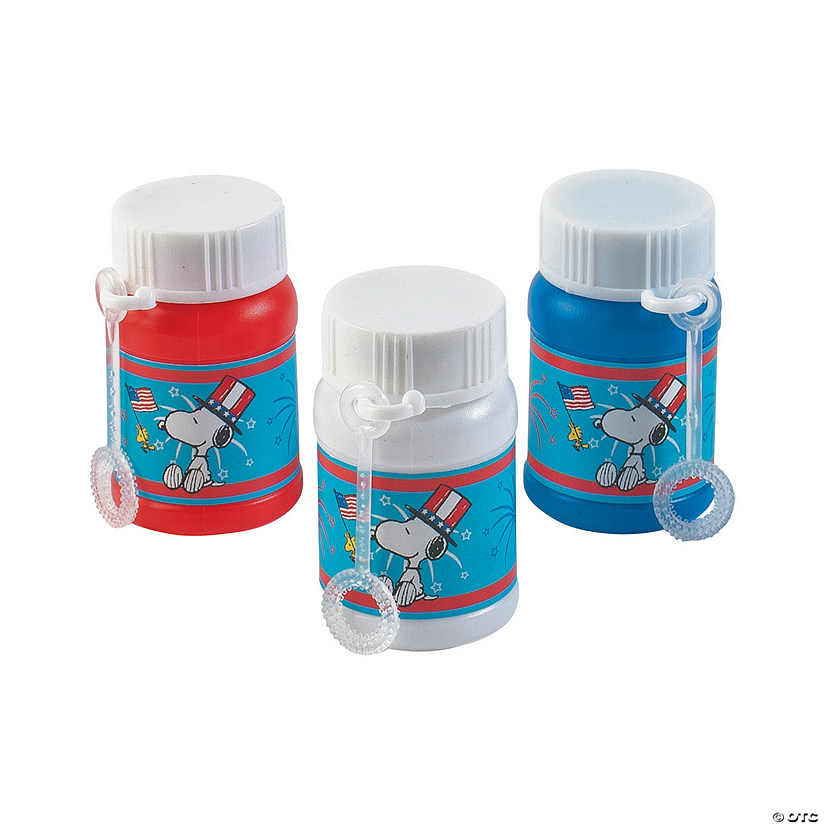 Peanuts® Patriotic Mini Bubble Bottles