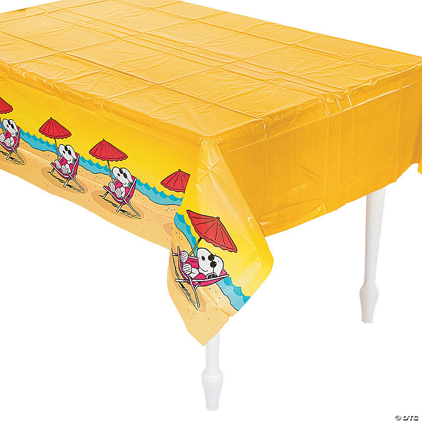 Peanuts® Summer Plastic Tablecloth