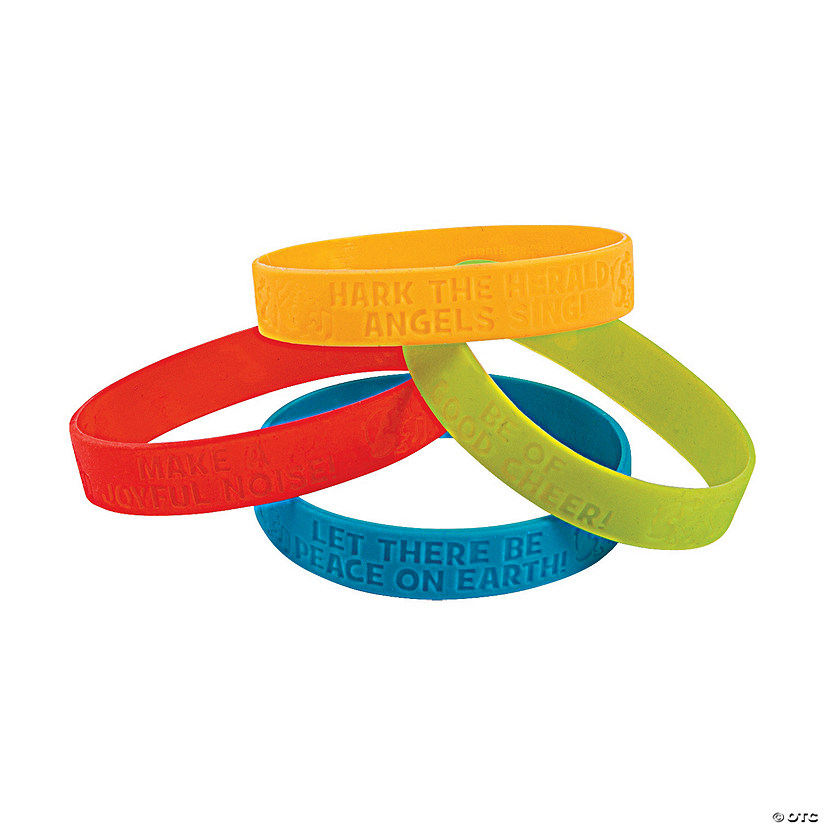 Peanuts<sup>®</sup> Christmas Inspirational Rubber Bracelets