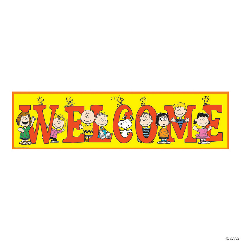 Peanuts® Welcome Paper Banner