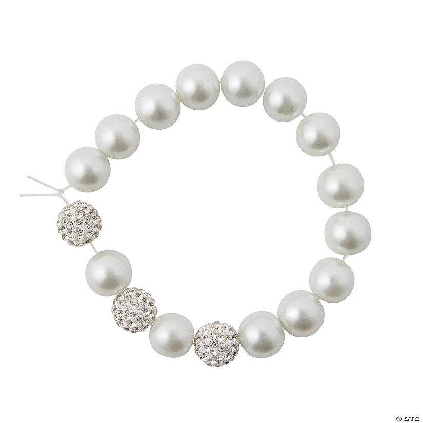 Pearl & Rhinestone Bracelet Craft Kit